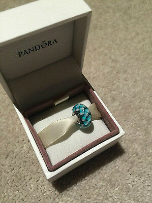 Genuine Pandora Charm - Teal Faceted