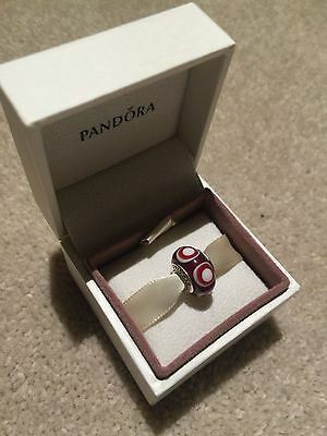 Genuine Pandora Charm - Red Steeping Stone