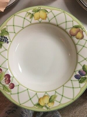 NEW with tags 8 MIKASA Optima Y4001 FRUIT RAPTURE Large Rim Soup Bowls Beautiful