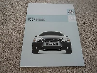 Volvo V70R Pricing Brochure - 2003 - Mint