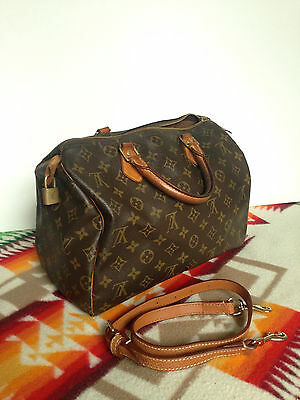 VTG Louis Vuitton Speedy 30 Signature Monogram Bag Purse SD0084 NEEDS ZIPPER