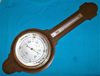 Very Large Art Deco Barometer / Thermometer - NO RESERVE