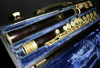 Early 20th century Wooden Rudall Carte & Co London Flute