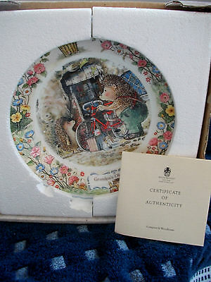 Foxwood Tales Wedgwood 8.5 Ins Plate Grandpa's Old Bicycle With Certificate