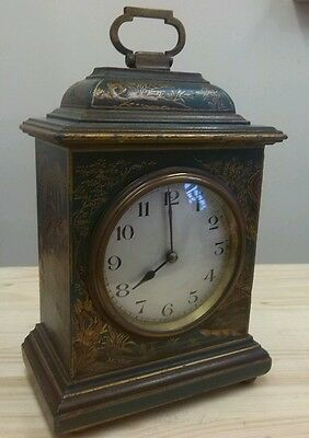 1920s french chinoiserie carriage clock