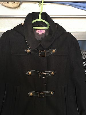 Black Hooded Cape Size Small