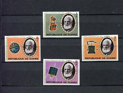 s12262) GUINEA MNH** Nuovi** 1976, Telephone centenary 4v IMPERFORATED