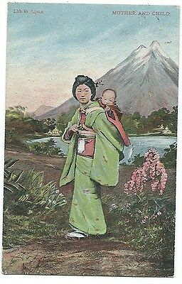 Japanese Themed Postcard - Valentines Life in Japan
