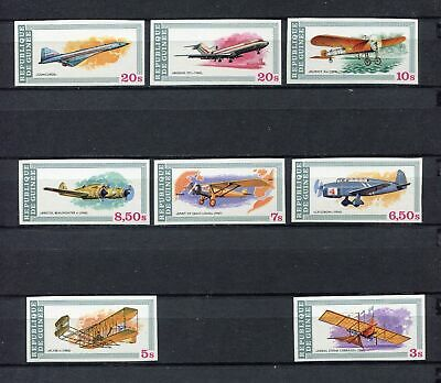s12267) GUINEA MNH** Nuovi** 1979, Aviation history 8v IMPERFORATED