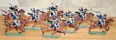Napoleonic Wars Lead/Tin Flat Soldiers - French Hussars 1