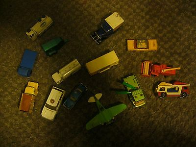 Total of 14 vehicles -  vintage Matchbox and Husky vehicles