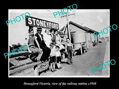 Old Large Historic Photo Of Stoneyford Victoria, The Railway Station 1930