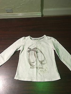 baby girls clothes 18-24 months Next Stretch Cotton Mix Long Sleeved Top