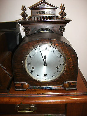 Early 20th Century Mahogany Cased Mantle Clock