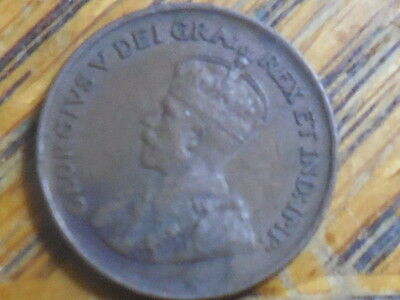 1929 George V Canadian One Cent Coin