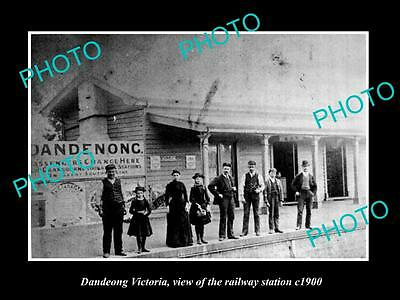 Old Large Historic Photo Of Dandenong Victoria, The Railway Station 1900
