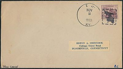 57874 -  USA -  POSTAL HISTORY: COVER with FANCY CANCELL: WITCH with CAT or OWL