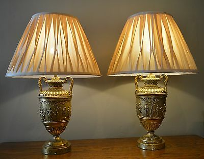 Antique table lamps as urns RARE & wonderful condition Early 1900's - Stunning!
