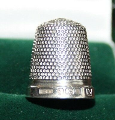 Lovely Silver Thimble Birmingham 1927 Henry Griffiths