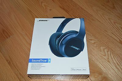 BRAND NEW IN BOX Bose SoundTrue Around-Ear Headphones II Apple Devices Navy Blue