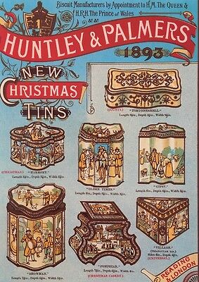Huntley & Palmer Biscuit Tin Christmas Card
