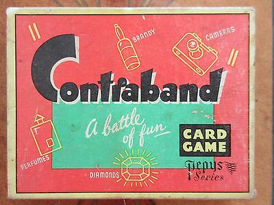 CONTRABAND By Pepys Vintage 1960s Card Game Contents complete & First Class