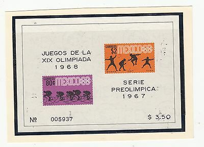 MEXICO OLYMPIC GAMES 1967/1968 MINATURE SHEET UNUSED MINT .Rfno.96.