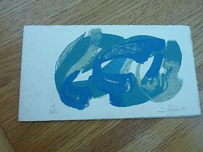 1964 Original Hand Signed Numbered James Pichette Print In Greeting Card Format