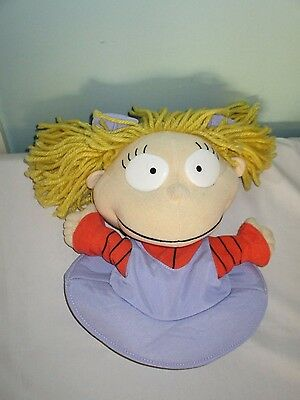 Angelica from The Rugrats Soft Plush toy hand glove puppet. Vintage 1998
