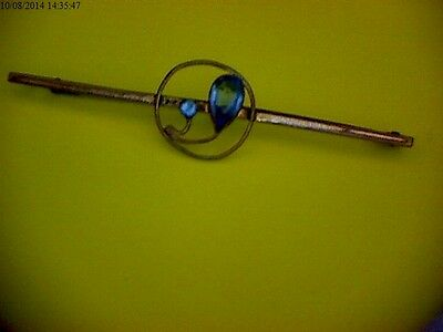 9Ct Gold & Topaz Vintage Brooch.