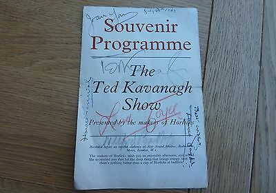 1949 Ted Kavanagh Radio Show Programme Hand Signed By Cast Original