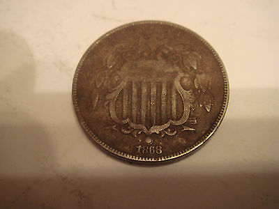 USA 1868 five cents VG . see scan