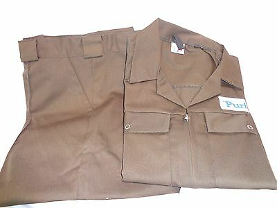 Brown Cotton Mens Workwear Trousers and Jacket
