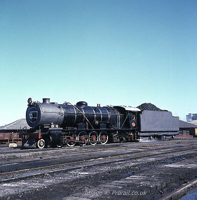 SOUTH AFRICAN RAILWAYS SAR 6x6 colour transparency 310105 12AR 4-8-2 East London