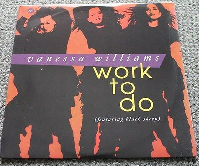 "VANESSA WILLIAMS * WORK TO DO * Classic Soul Funk Boogie 12"" Vinyl"