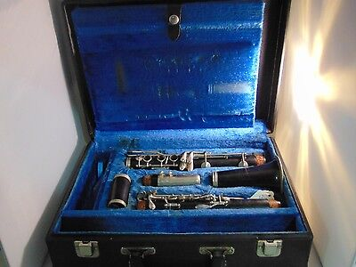 Pruefer Ultima Clarinet France with case Vintage Clarinet MUSICAL INSTRUMENT
