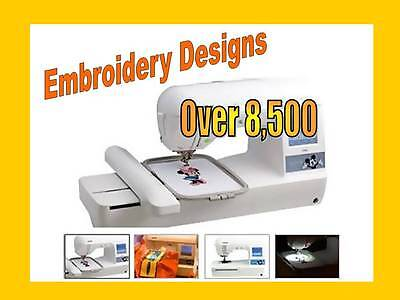 PES Brother Designs for Brother Embroidery Machines 8,500 Design Library