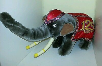 Ringling Brothers Circus 125th Anniversary Celebration Elephant Plush Cuddly Toy