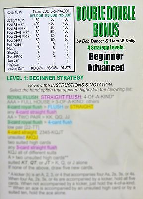 DOUBLE DOUBLE BONUS Video Poker Strategy Card by Bob Dancer Daily Trainer