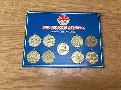 1980 Moscow Olympics Medal Collector Card