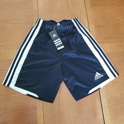 Adidas Climalite Soccer Shorts Black & White Youth Size L , XL *PICK* NWT