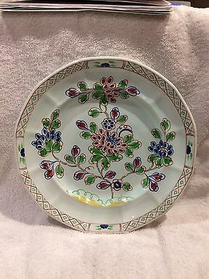 Adams Old Bow Calyx Ware Hand Painted Large Plate.