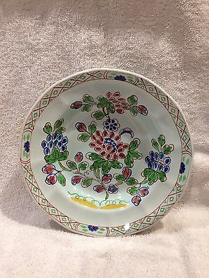Adams Old Bow Calyx Ware Hand Painted Shallow Bowl.