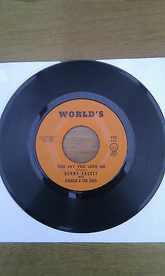 "BENNY EASELY CHARLIE & JIVES You Say You Love Me VERY RARE 7"" 60s US Soul Blues"