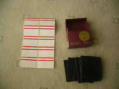 """Box of 10 HD  3.5"""" disks with box and labels"""