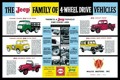 Willys Jeep family of Vehicles FC 150,Truck, CJ5
