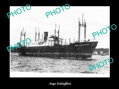 OLD LARGE HISTORIC MERCHANT SHIP PHOTO OF THE STEAMSHIP SS ANGE SCHIAFFINO c1920