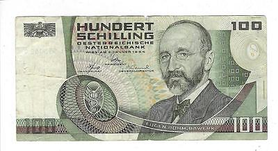 Austria 100 Schilling Currency Note (#N55)