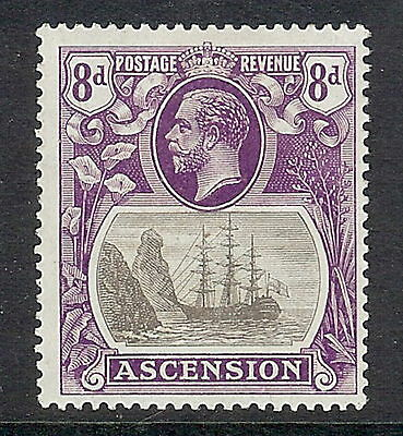 Ascension Island 1924 8d Grey-Black & Bright Violet. SG 17. MLH