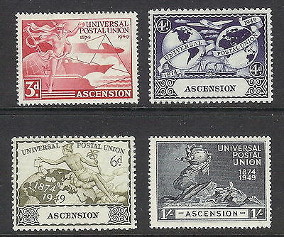 Ascension Island 1949 UPU Set of 4. SG 52 - 55. MH